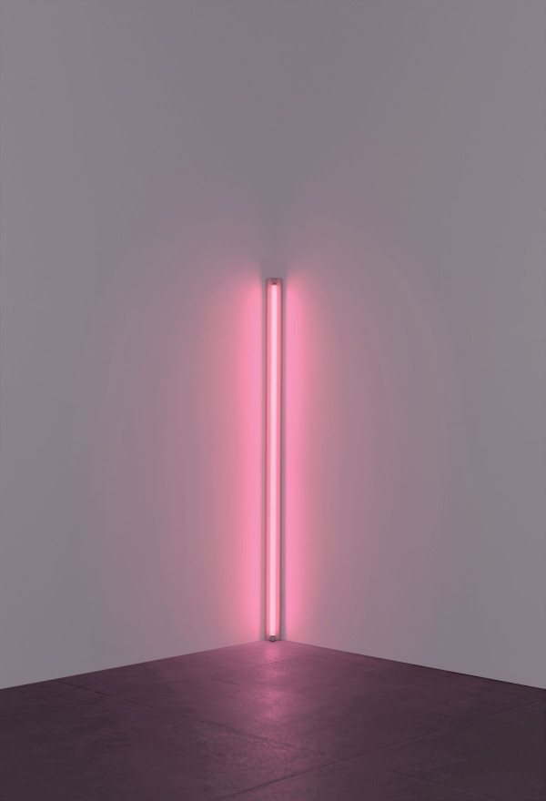 Dan Flavin, pink out of a corner (1963). Picture: Stephen Flavin