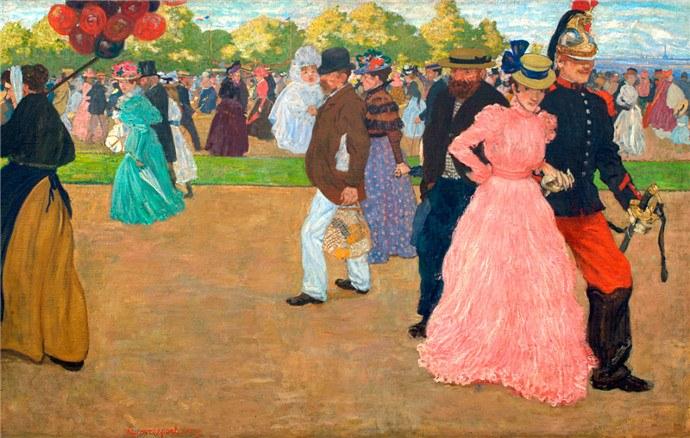 Henri Evenepoel,La promenade du dimanche au Bois de Boulogne (1899)
