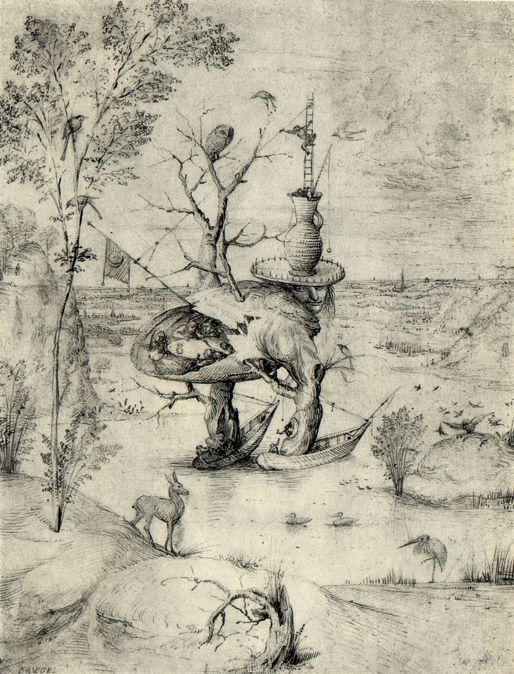 Bosch, The Man-Tree (1470)