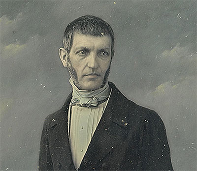 George Bancroft by John Jabez Edwin Mayall / Half-plate daguerreotype (hand-colored), c. 1847