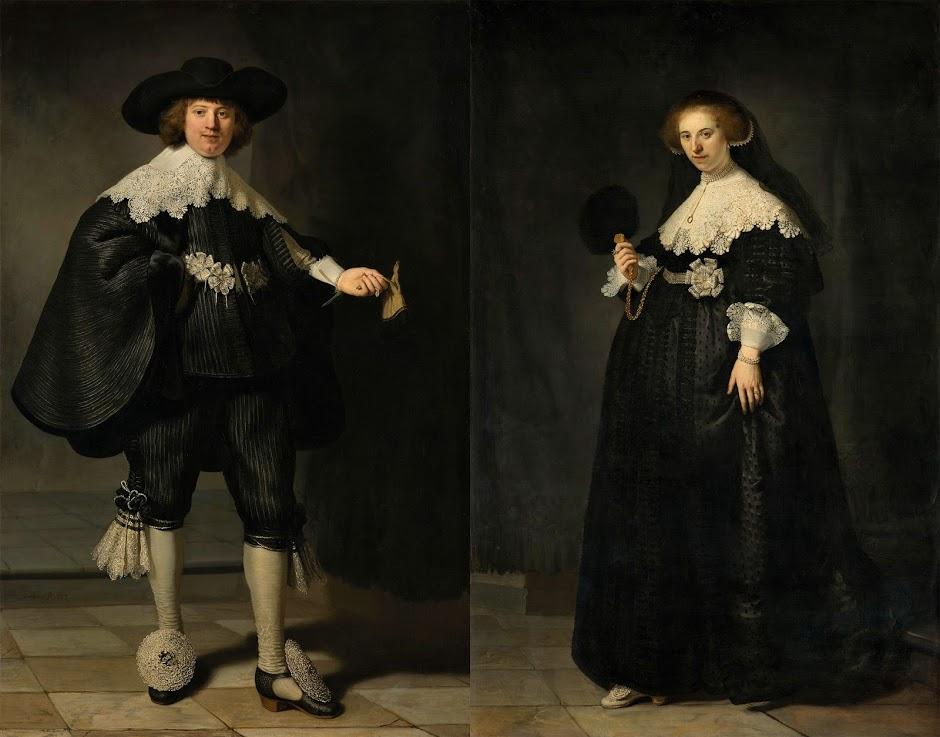 Rembrandt van Rijn (1606-1669), Portrait of Marten Soolmans, 1634 / Portrait of Oopjen Coppit, 1634