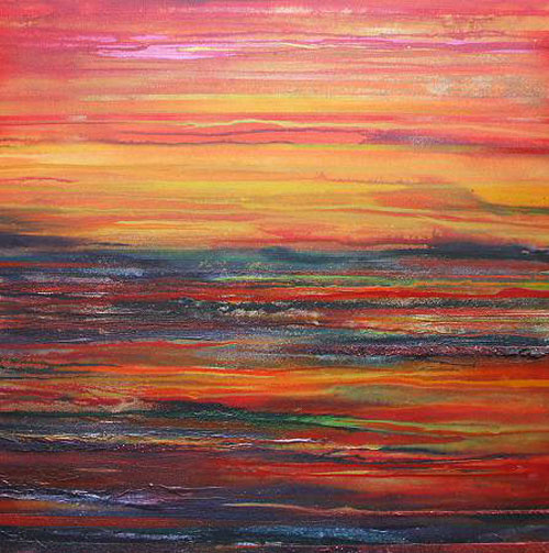 MIKE BELL, Sunset Budle bay Mudflats No 1