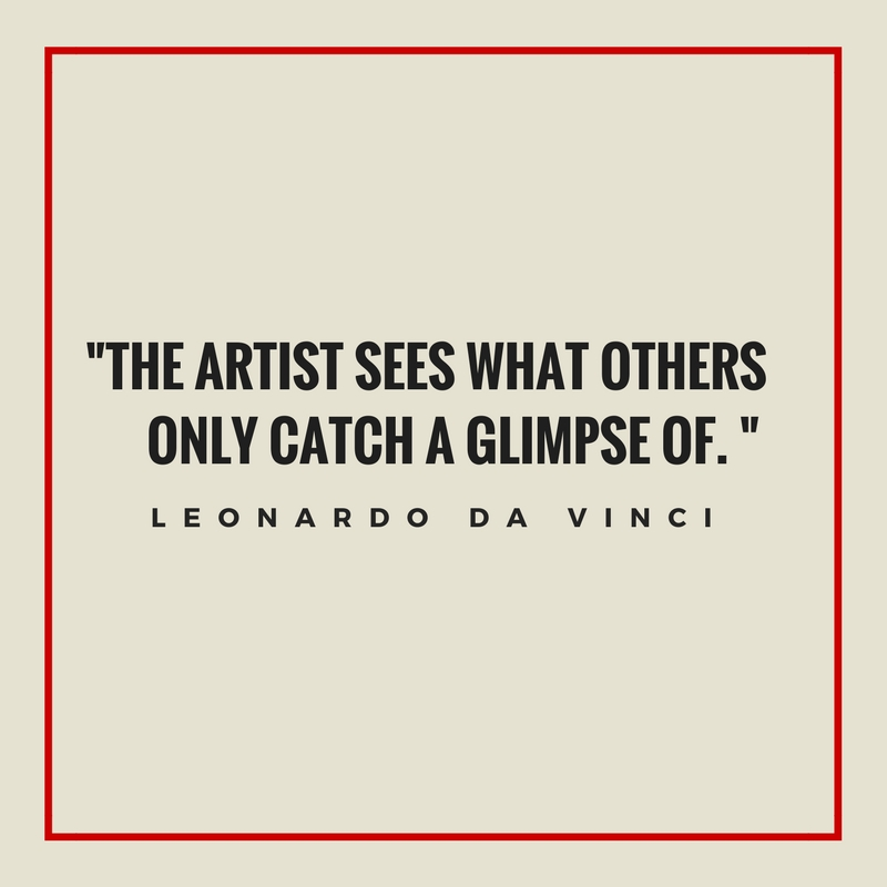 inspirational quote by Leonardo da Vinci