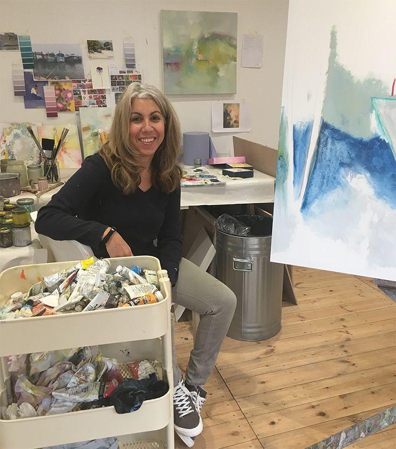 Iaysha Salih in her Studio