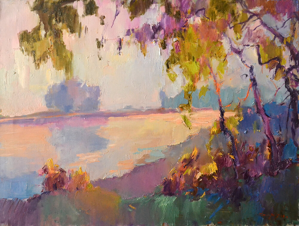 ALEXANDER SHANDOR, Evening On The Tisza. £1,300.