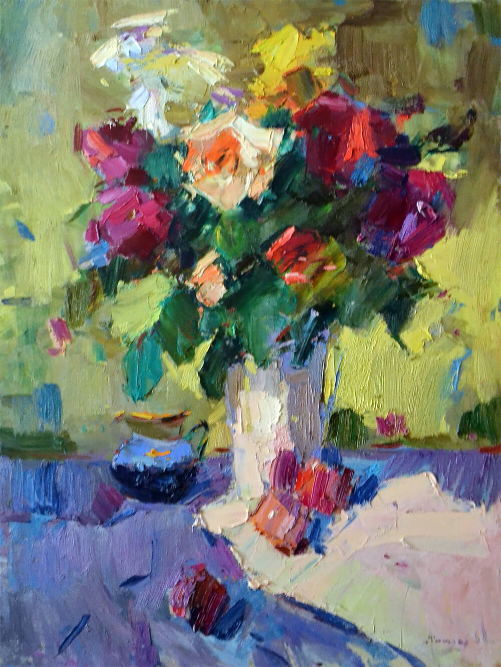ALEXANDER SHANDOR, Roses And Peaches. £800.
