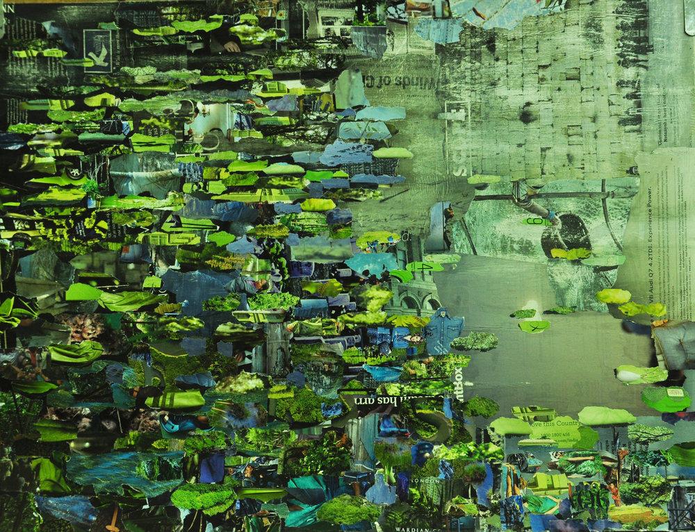 £1,050. Papier colle  Lily Pond by Sukanta Dasgupta