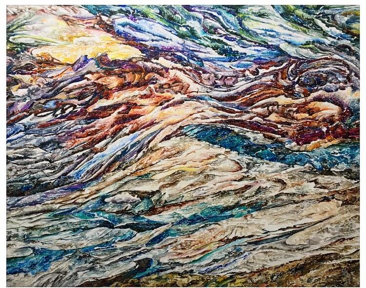 £1950, Acrylic on canvas  Quartz-28 by Sangeeta Sagar