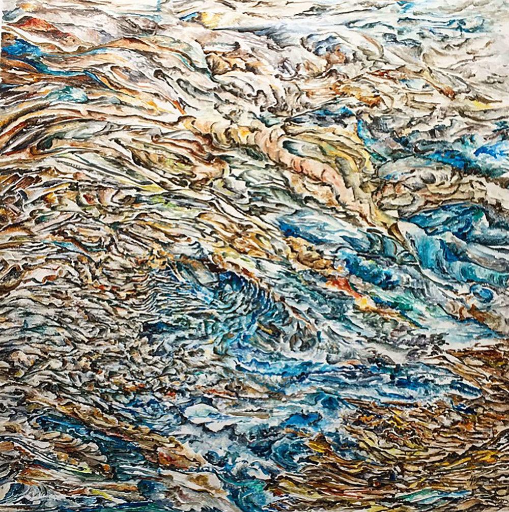£1500, Acrylic on canvas  Quartz-15 by Sangeeta Sagar