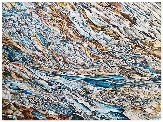 Quartz-9 by the very talented #artist SANGEETA SAGAR. Acrylic on canvas. #abstractart #abstractpaintings
