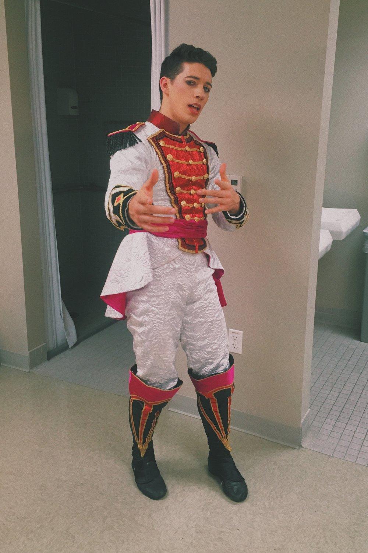Me in my Prince costume for Ballet Austin's Nutcracker