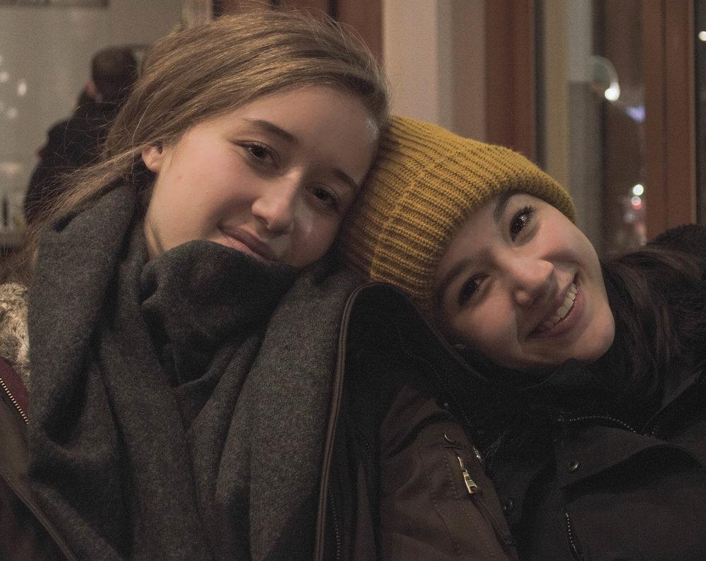 Angela Bishop and Bella Ureta