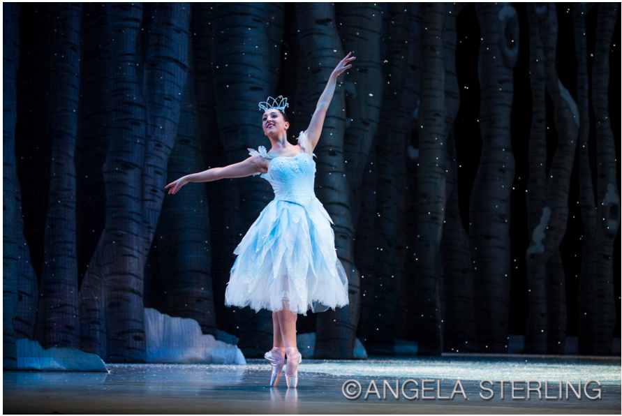 Nicole Rizzitano in George Balanchine's the Nutcracker with the Pacific Northwest Ballet. Photo by Angela Sterling