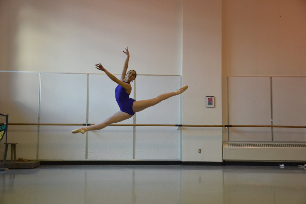 Nicole Rizzitano dancing in the Pacific Northwest Ballet studios Photo by Sarah Young