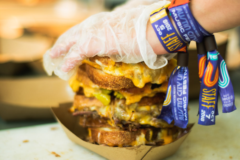 burro cheese kitchen grilled cheese at Austin City Limits