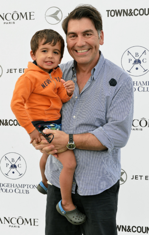 Jewelry designer Michael Aram wears Fleru'd Pins to Bridgehampton polo's closing game.png