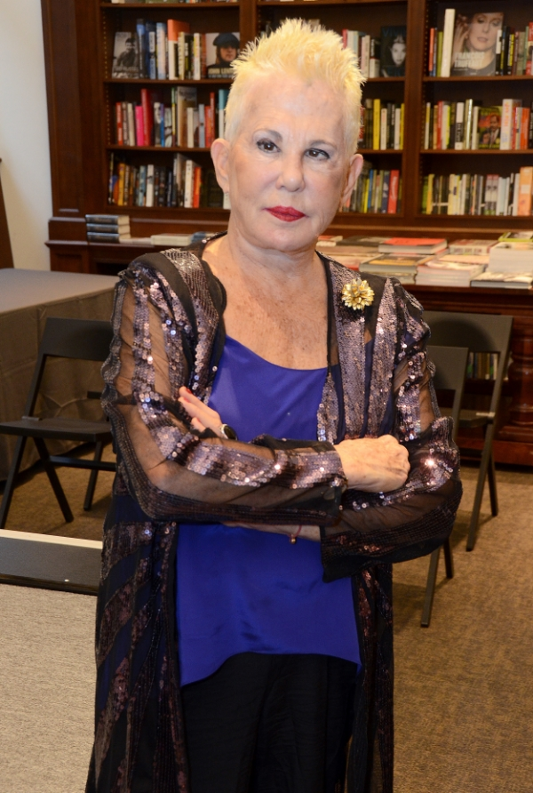 Rose Hartman wears Fleur'd Pins to her book signing at Rizzoli NYC on 10.13.15 - photo by Andrew Werner.jpg