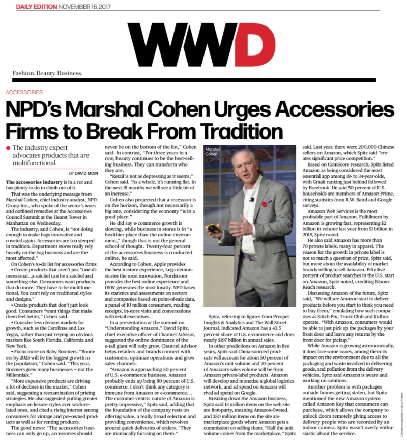 Marshal Cohen in WWD 11.16.17 wearing Fleur'd Pins Red Leather Dahila lapel flower - photo by Andrew Werner.jpg