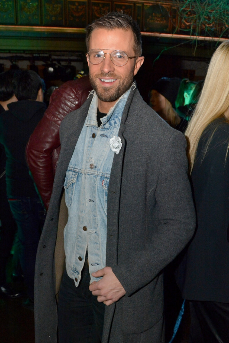 Preston Konrad attends John Varvatos FW18 on 1.26.18 wearing Fleur'd Pins limited edition Ella Rose - photo by Andrew Werner, AHW_6910.jpg