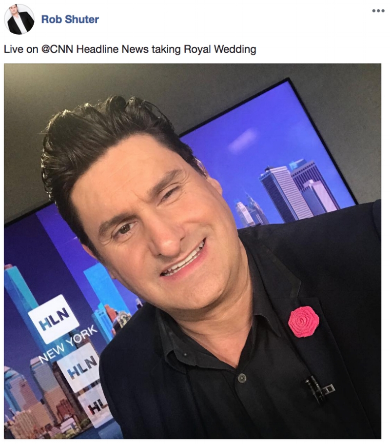 Rob Shuter live with the Royal Wedding wearing Fleur'd Pins.jpg