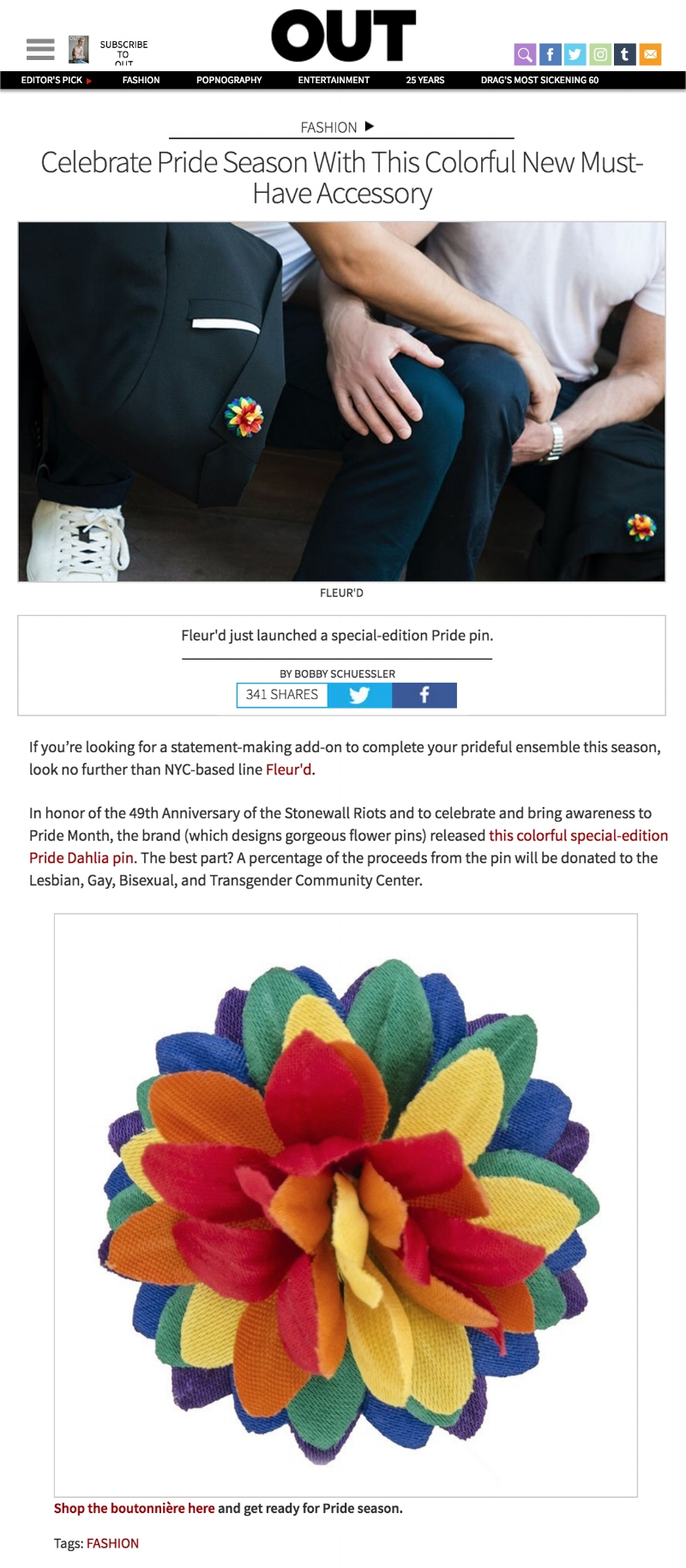 OUT Magazine - Fleur'd Pins MUSTHAVE PRIDE Fleur.jpg