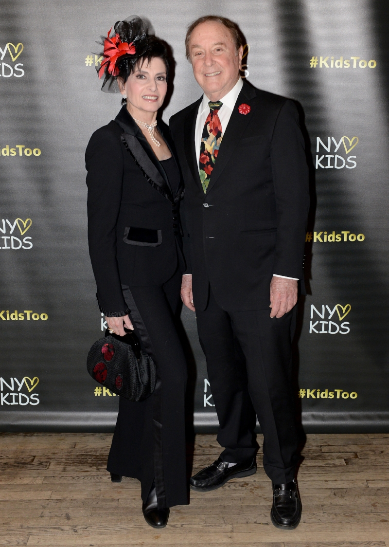 Arlene and Allan Lazare (wearing Fleur'd Pins Red Leather Mini Gardenia) attend a RHONY #KidsToo Fundraiser in NYC 11.8.18 - photo by Andrew Werner.jpg