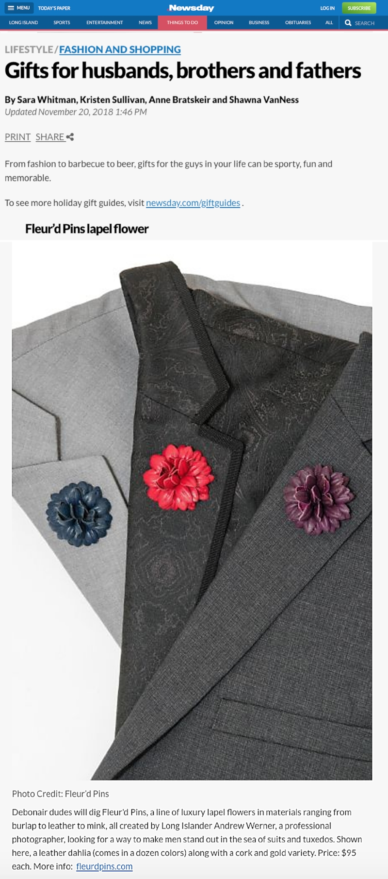 Fleur'd Pins featured in Newsday Holiday 2018.jpg