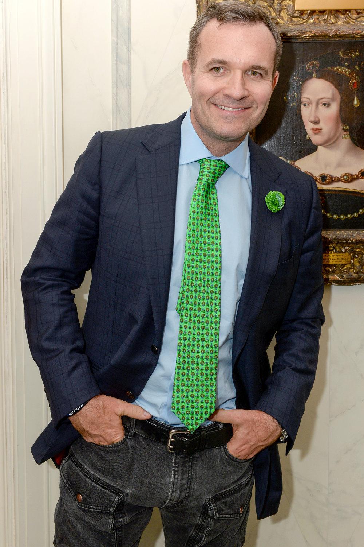 Greg Kelly wearing Fleur'd Pins Green Leather Carnation.jpg