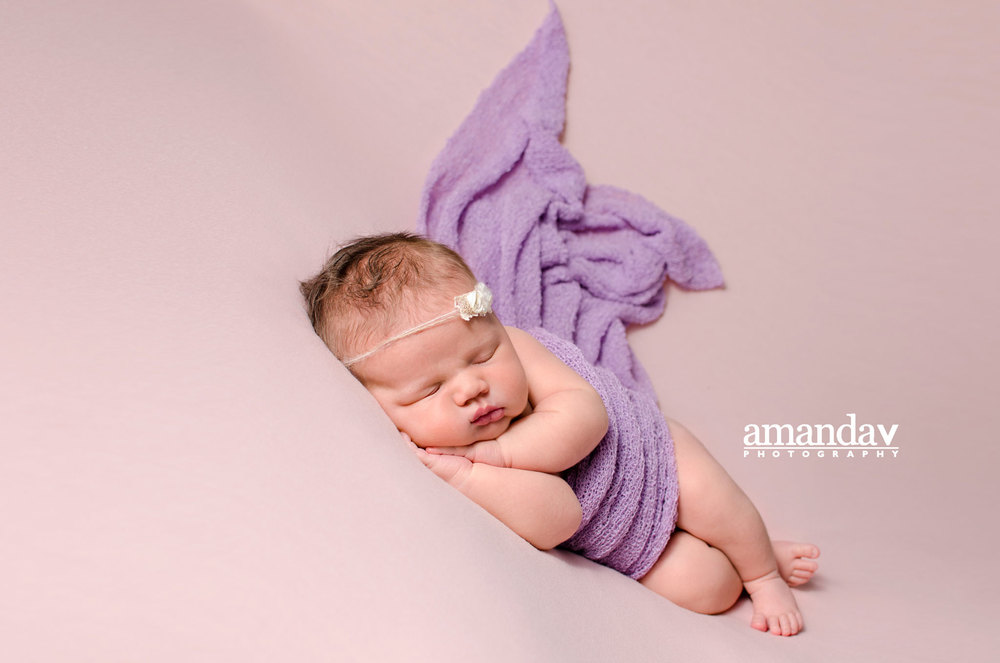Kelowna newborn photographer in studio