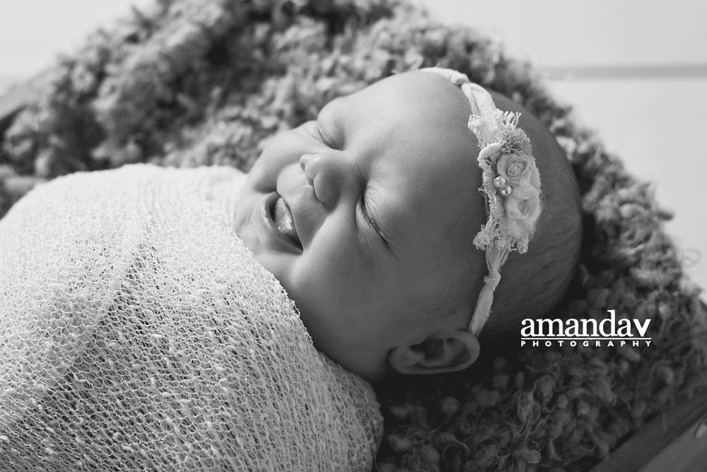 newborn smile in Kelowna