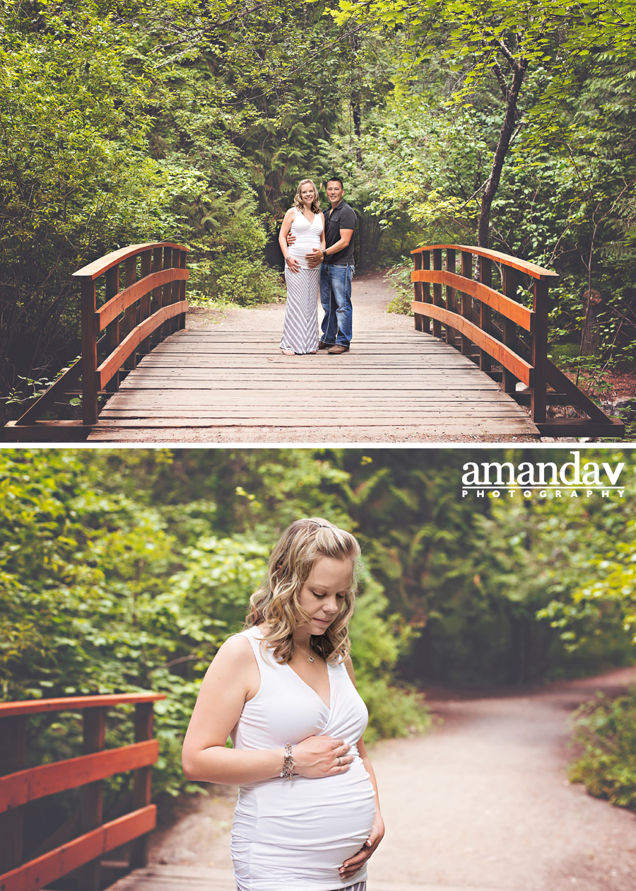 Mill Creek Maternity Session with couple