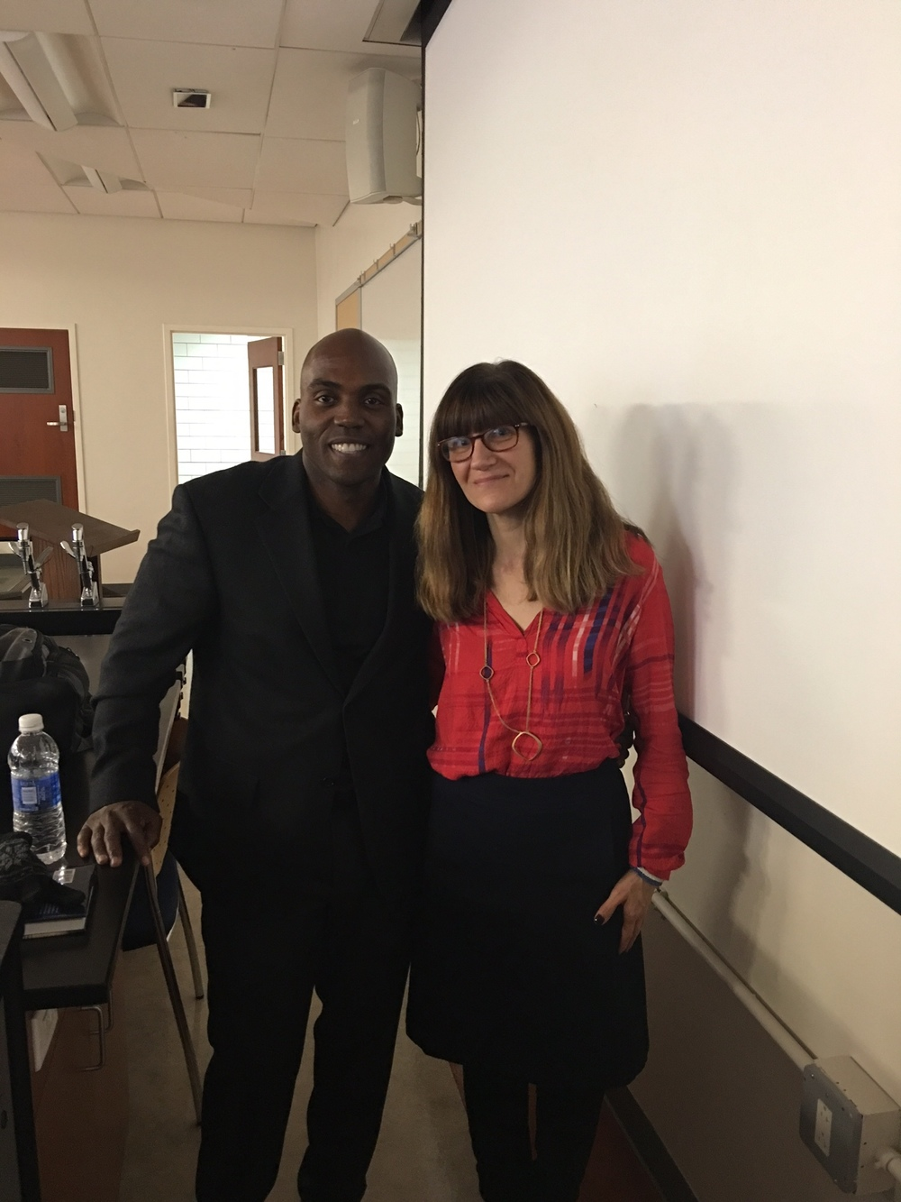 Profs. Yohuru Williams,  Fairfield University, and Emily Horowitz, SFC