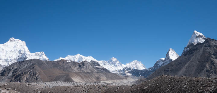 Looking east toward Everest