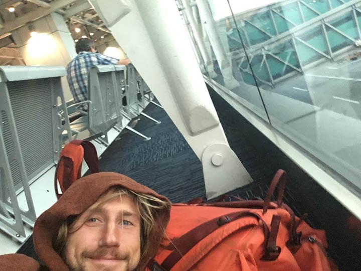 Airport bivy