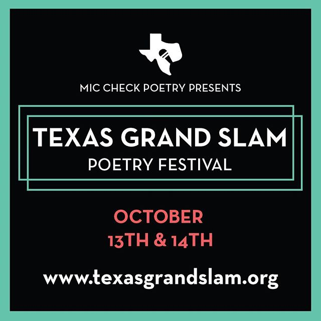 TEXAS GRAND SLAM FANS: we are logged in and back at it again! Follow us here and/or @miccheckpoetry for countdowns and updates from now through Oct. 14!