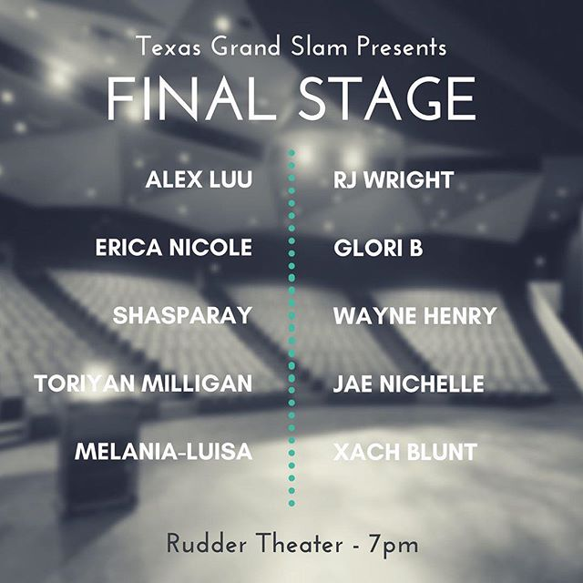 it's going down in less than 3 hours. 10 poets, 3 rounds, $1500 at stake.