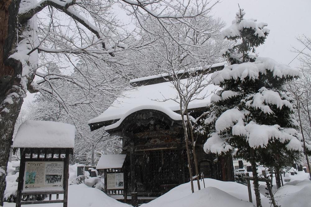 A historic temple in Hakuba.