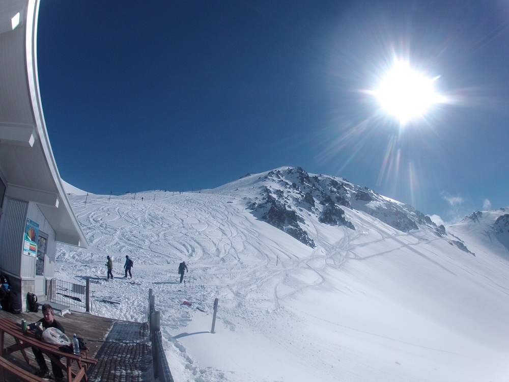 'The Big One' - Craigieburn Valley Ski Field has the best accessible steep chute skiing in the Southern Hemisphere.