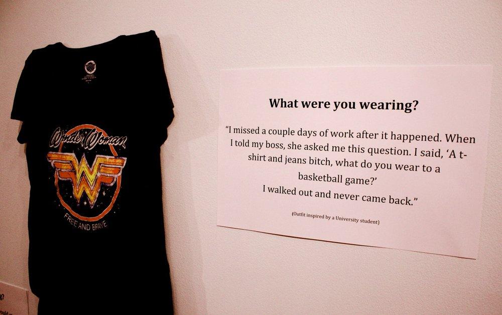 """What Were You Wearing"" Art Exhibit Explores Rape Culture's Persistent Question.  Read more"