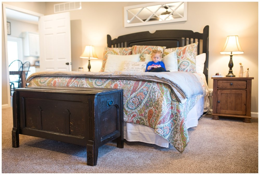 Her bedroom furniture came from, where else, Uebinger's Furniture in Flora, IL. The chest came from an antique shop.
