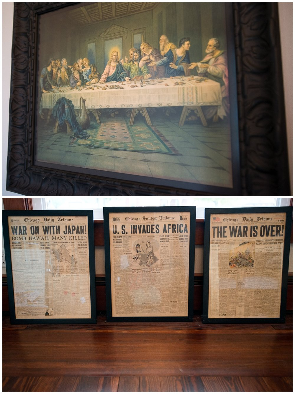 The Last Supper and newspapers from the 1940s belonged to their grandparents.