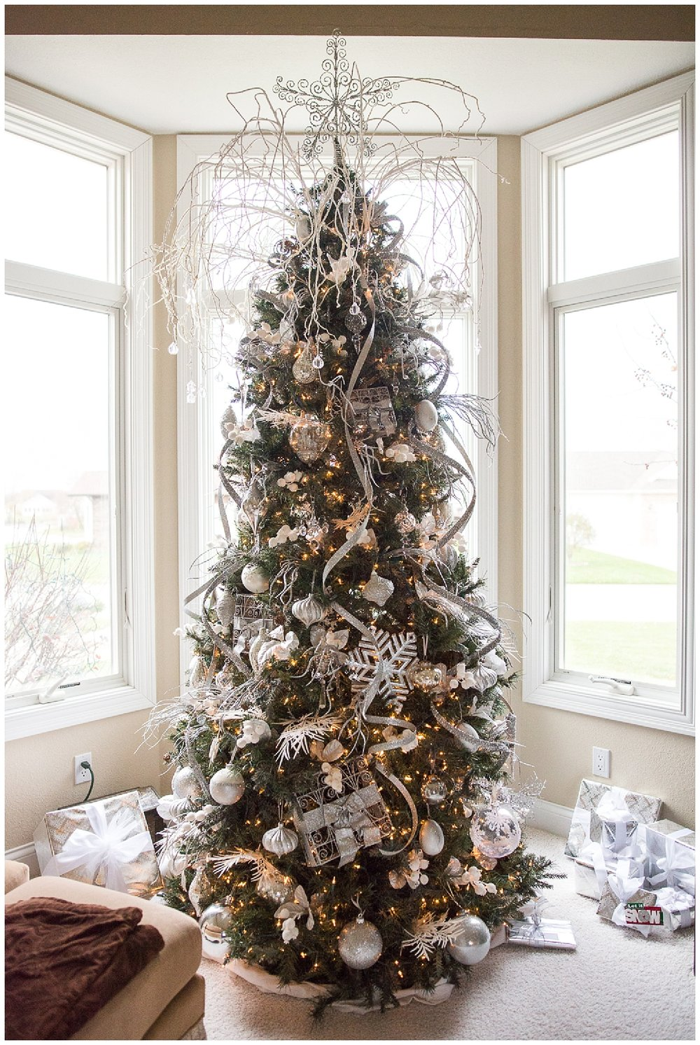 The Waterford Tree.  This one sits proudly in her front window and contains Waterford ornaments.