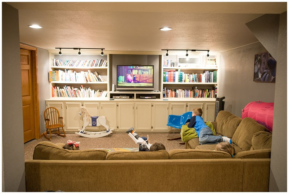 Entertainment area in the basement – My dream basement space.