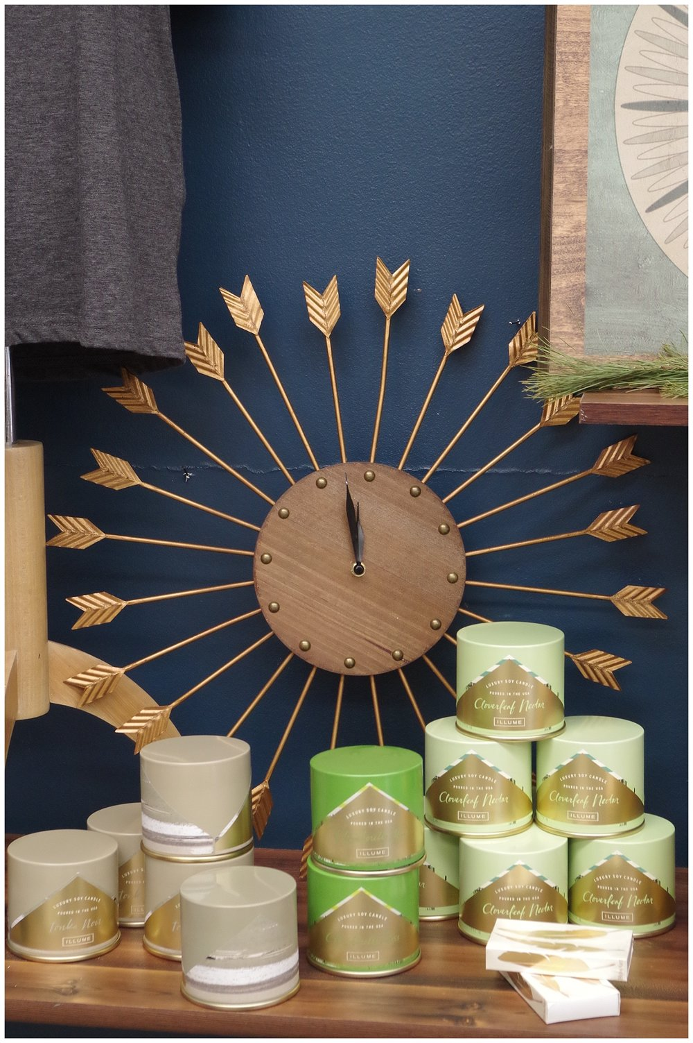 Illume soy candles and clocks galore