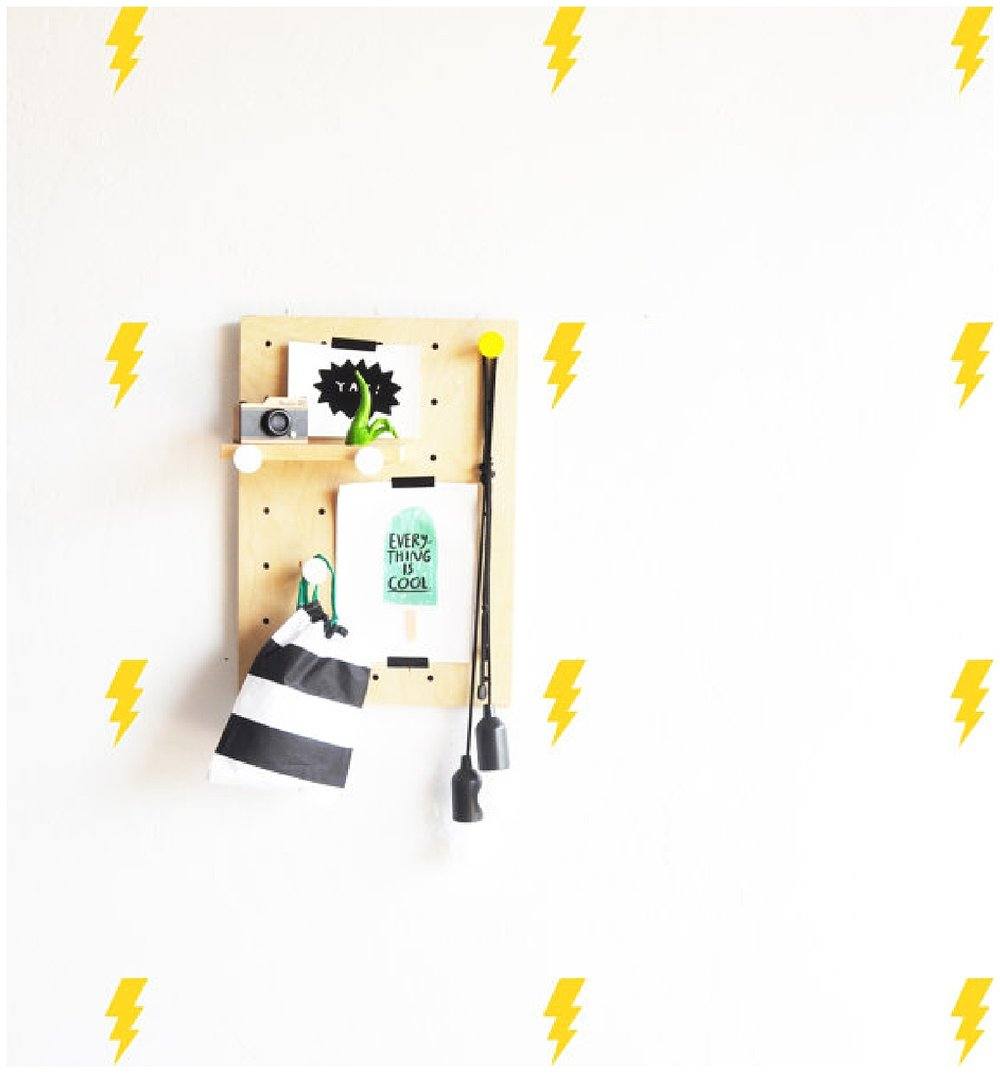 Lightning bolt wall decals! or put them on your dishwasher. : )