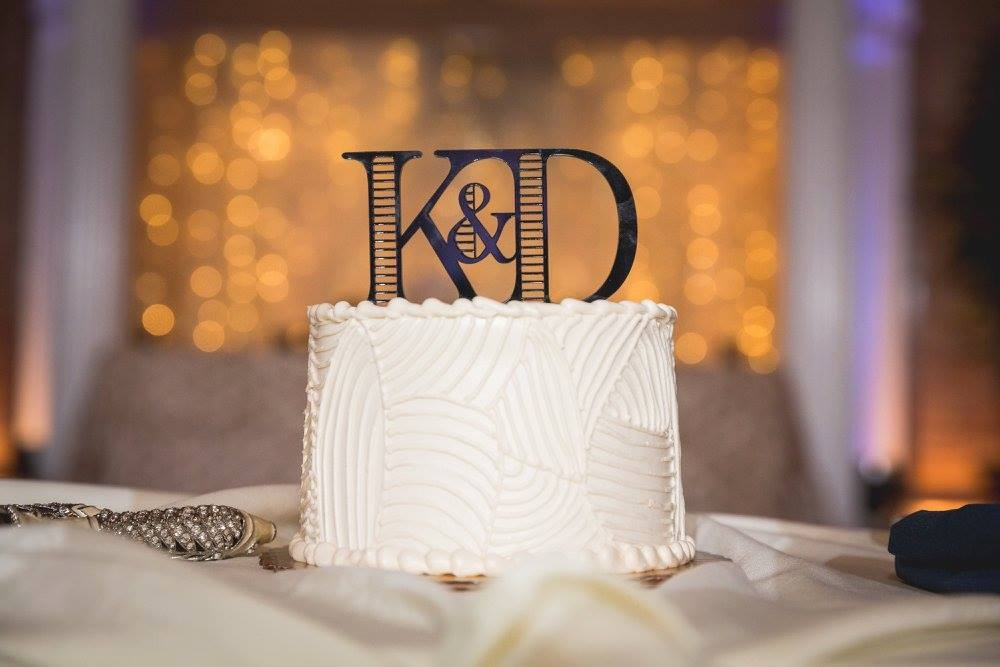 Lasercut wedding cake topper