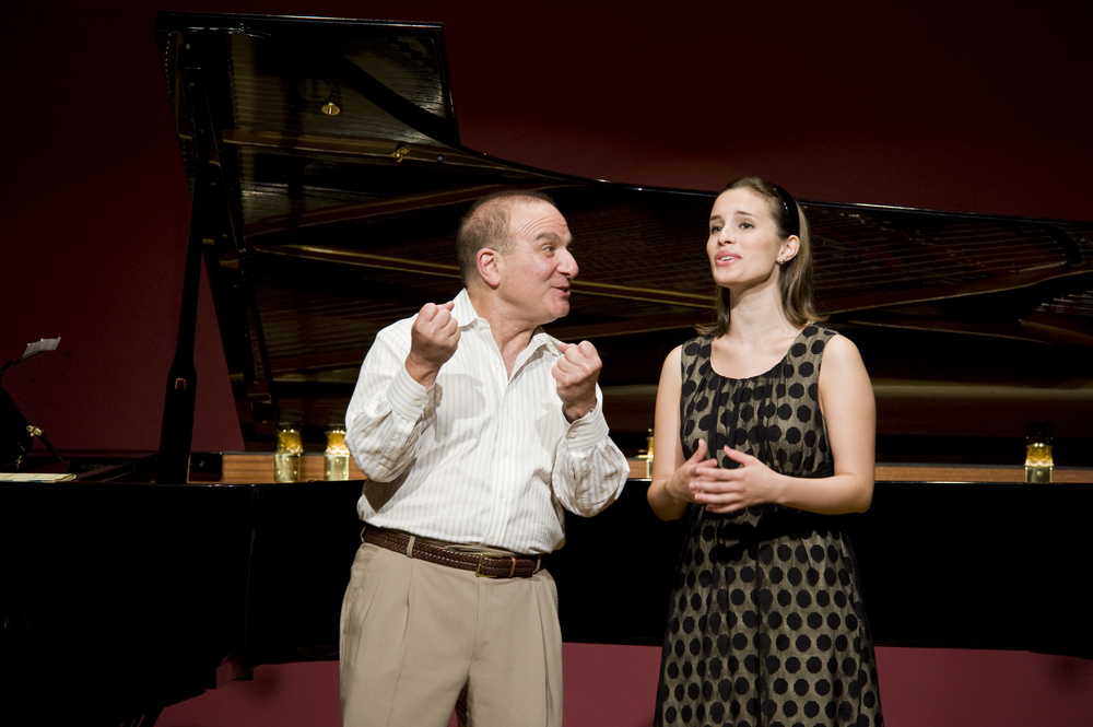 Martin Katz working with a Professional singer