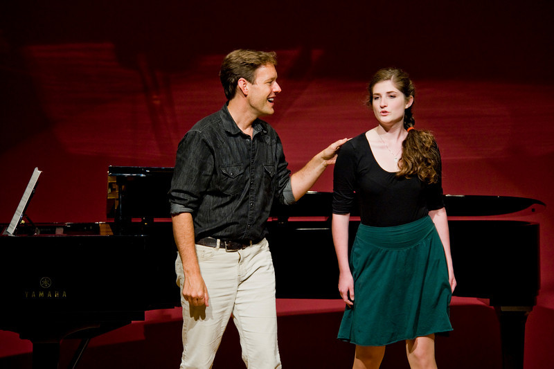 Jake Heggie working with a Young Artist