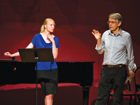 John Harbison working with a Professional Program singer in 2009