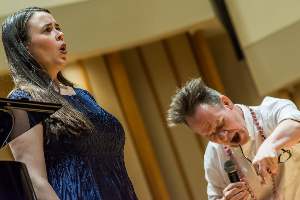 2016 Young Artist Kate Johnson working with Peter Sellars in a master class.